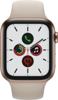 Apple Watch Smartwatch Watch Series 5 GPS + Cellular, 44mm  Edel. steinfarb. Armband Gold
