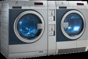 Electrolux Professional gewerbliche Nutzung Set WE/TE Duo (WE170PP ZIP+TE1120P ZIP+B12COINBOX) Edelstahl