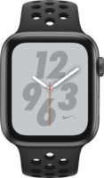 Apple Watch Smartwatch Watch Nike+ Series 4 GPS + Cellular, 44mm Alu ant.-schw.Armb Space Grau