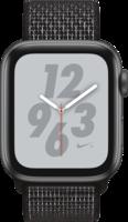 Apple Watch Smartwatch Watch Nike+ Series 4 GPS + Cellular, 44mm Alu schwarzes Arm Space Grau