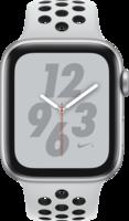 Apple Watch Smartwatch Watch Nike+ Series 4 GPS + Cellular, 44mm Alu pure plat.Armb Silber
